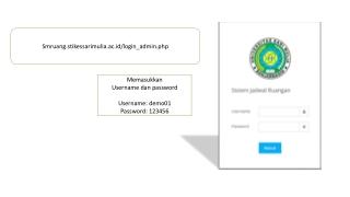 Memasukkan Username dan password Username: demo01 Password: 123456