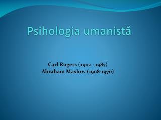 Psihologia umanistă