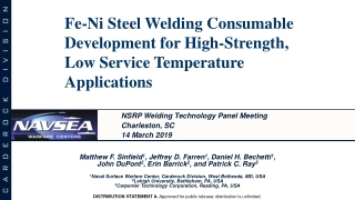 Fe-Ni Steel Welding Consumable Development for High-Strength, Low Service Temperature Applications