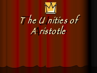 The Unities of Aristotle