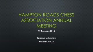 Hampton roads chess association annual meeting