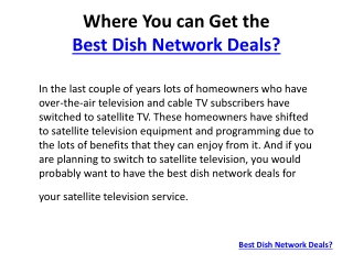 The Best DISH Network Deals
