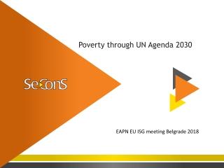 Poverty through UN Agenda 2030