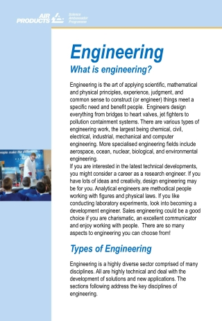 Engineering What is engineering?