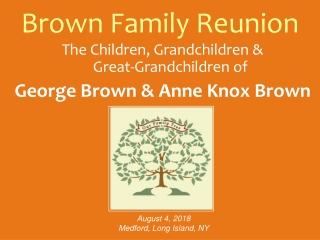 Brown Family Reunion
