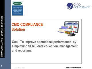 CMO COMPLIANCE Solution