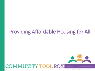 Providing Affordable Housing for All