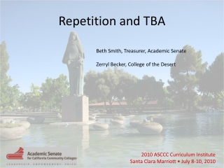Repetition and TBA