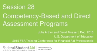 Competency-Based and Direct Assessment Programs