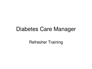 Diabetes Care Manager