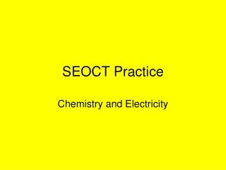 SEOCT Practice