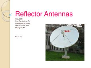 Reflector Antennas