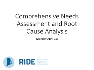 Comprehensive Needs Assessment and Root Cause Analysis