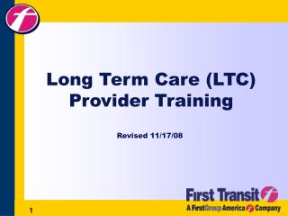 Long Term Care (LTC) Provider Training