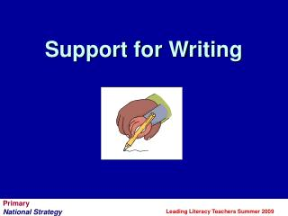Support for Writing
