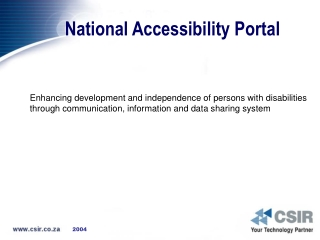National Accessibility Portal