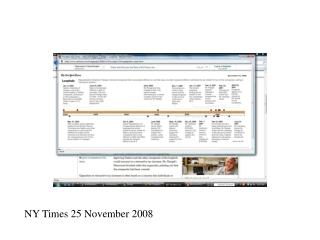 NY Times 25 November 2008