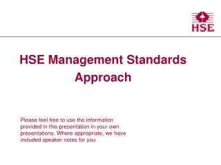 HSE Management Standards Approach