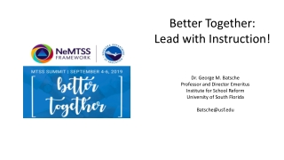 Better Together: Lead with Instruction!