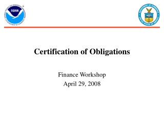 Certification of Obligations