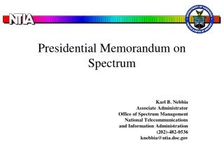 Presidential Memorandum on Spectrum