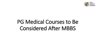 PG Medical Courses to Be Considered After MBBS