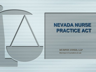 NEVADA NURSE PRACTICE ACT