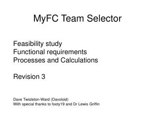 MyFC Team Selector