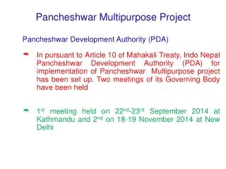 Pancheshwar Multipurpose Project