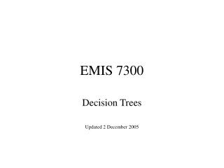 EMIS 7300
