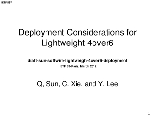 Q, Sun, C. Xie, and Y. Lee