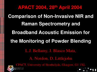 APACT 2004, 28 th  April 2004