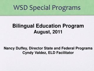 WSD Special Programs