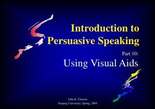 Introduction to Persuasive Speaking