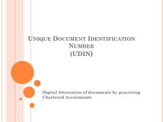 Unique Document Identification Number (UDIN )