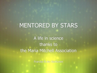 MENTORED BY STARS