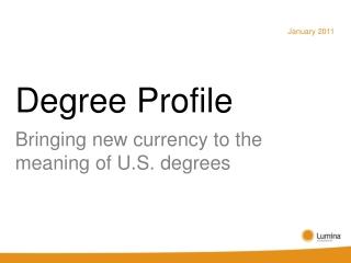 Degree Profile