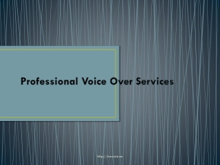Expert voice over services
