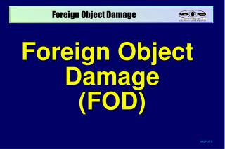Foreign Object Damage (FOD)