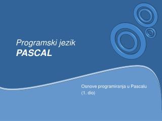 Programski jezik PASCAL