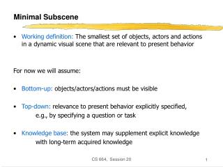 Minimal Subscene