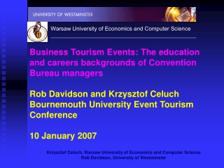 THE BUSINESS TOURISM SECTOR