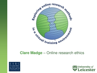 Clare Madge – Online research ethics