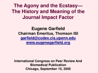 Abbreviated Title      Total Cities     Impact Factor    Articles