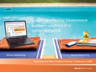 Delivering effective Government business solutions in a connected world.