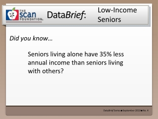 Low-Income  Seniors