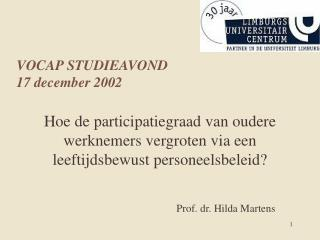 VOCAP STUDIEAVOND 17 december 2002