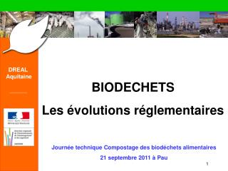 Biod chets   Les  volutions r glementaires