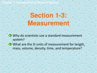 Section 1-3: Measurement