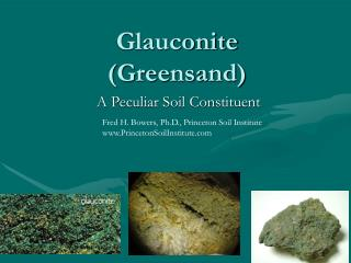 Glauconite (Greensand)